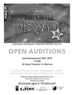 The Little Mermaid Open Auditions at The Roxy